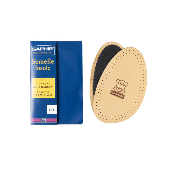 SAPHIR HALF INSOLE LEATHER CHARCOAL 3